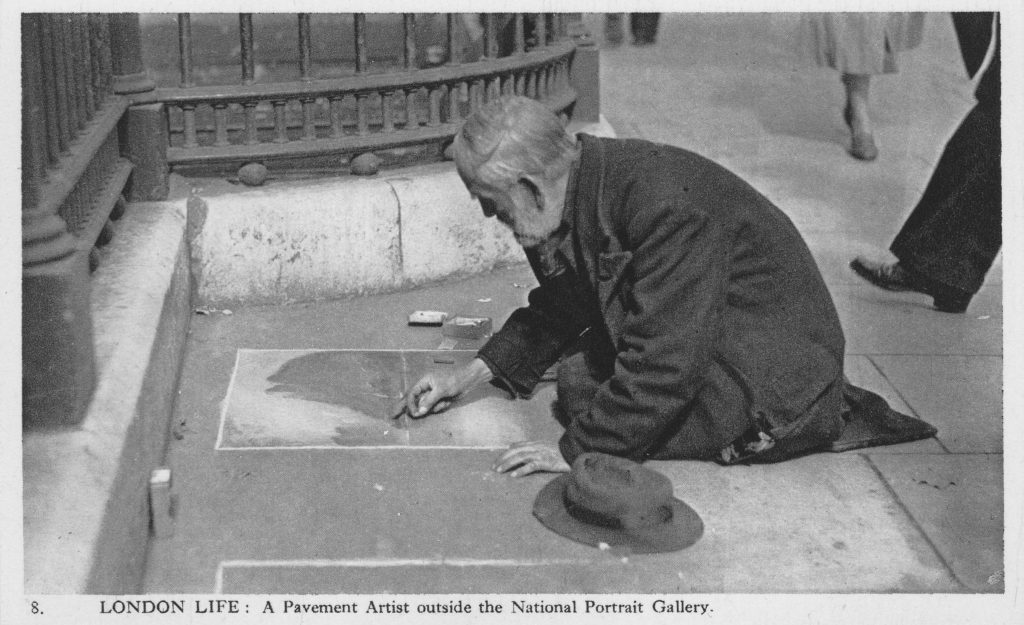 Image result for self portrait of a pavement artist