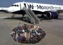 Monarch Airlines 3d Pavement Art