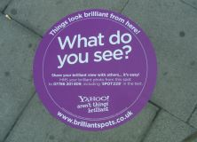 Yahoo! Guerrilla Pavement Sticker campaign