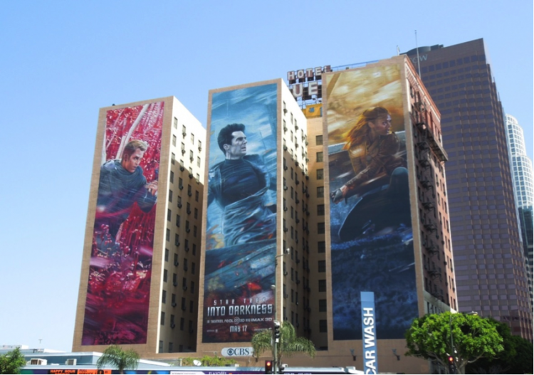 Why are Wall Murals perfect for Movie release marketing Street